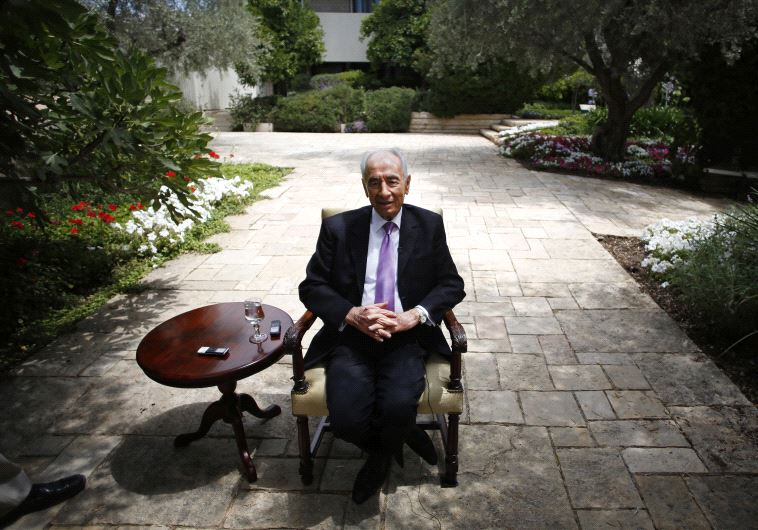 Shimon Peres during an interview with Reuters at his residence in Jerusalem, June 2013 (photo credit: REUTERS)