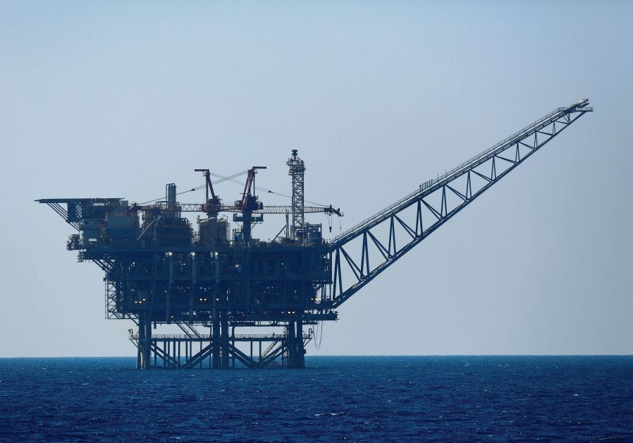 An Israeli gas platform is seen in the Mediterranean Sea, 2014. Credit: Reuters