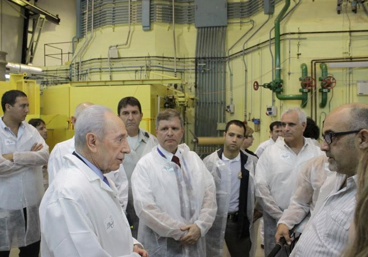 Peres at the Nuclear Research Facility (Council for Atomic Energy)