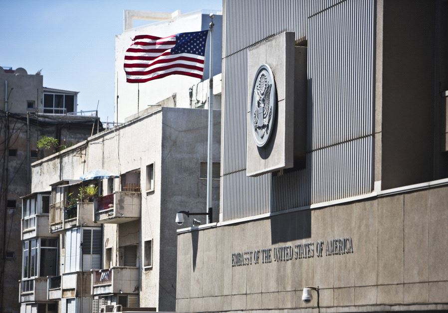 US Embassay in Tel Aviv (Photo by: Reuters)