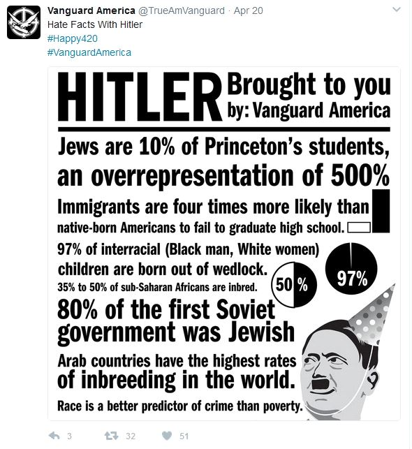 Twitter screenshot of fliers posted around Princeton campus. Credit: screenshot/twitter