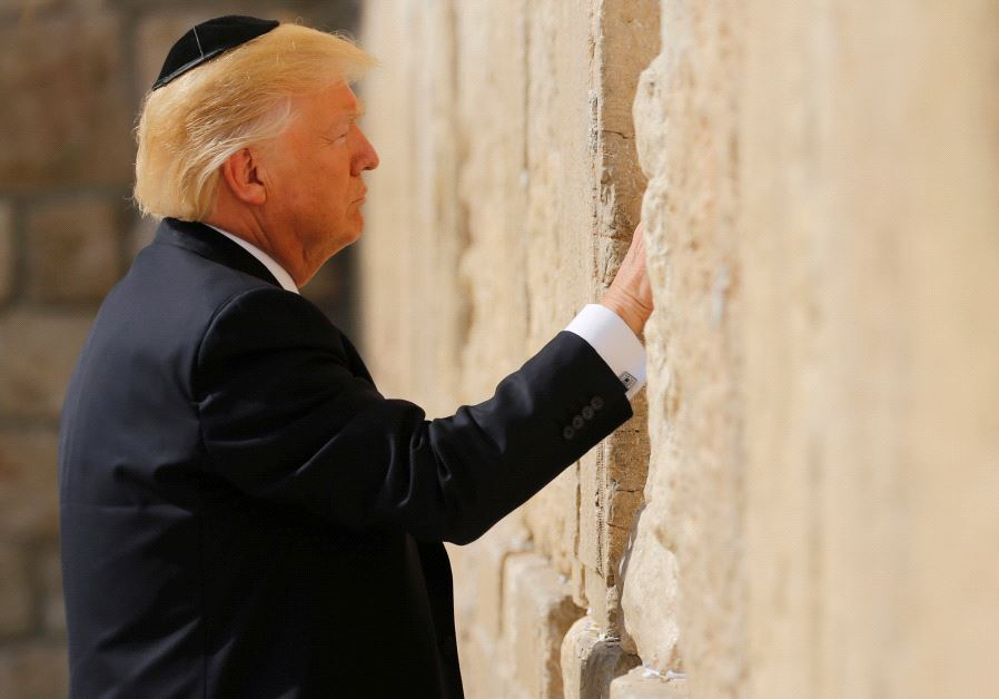 US President Donald Trump at the Western Wall (Photo by: Reuters)