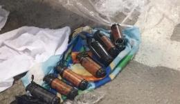 Stun grenades seized by Border Police Sunday morning