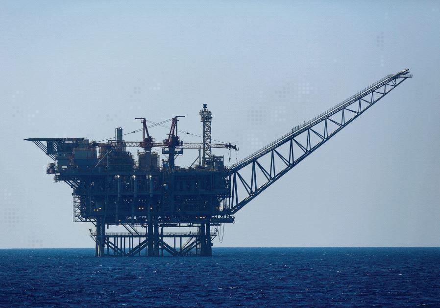 An Israeli gas platform is seen in the Mediterranean Sea, 2014. Credit: Reuters