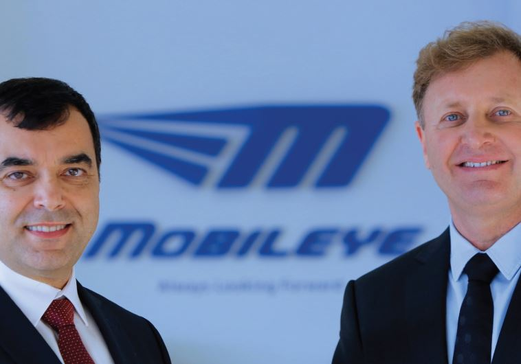 Mobileye founders Prof. Amnon Shashua (left) and Ziv Aviram (Photo by: Courtesy)