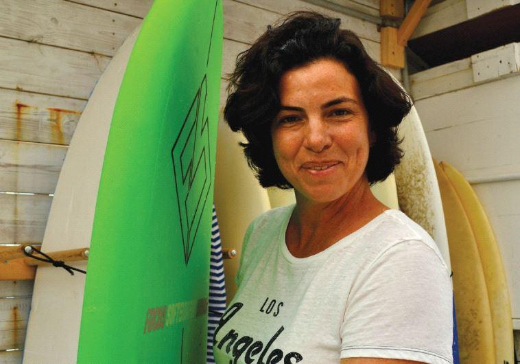 Maya Dauber, former Roxy pro surfer and co-founder of Maya Surf (Inbal Aharoni)