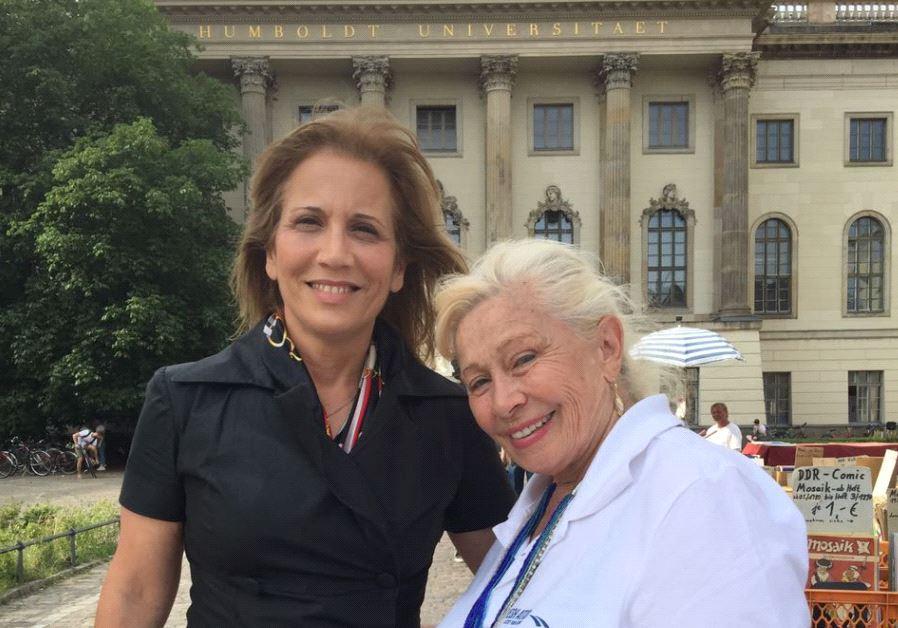 MK Lavie and Holocaust survivor Dvorah Weinstein